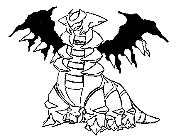 coloriage pokemon Giratina