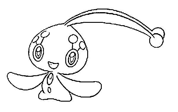 coloriage pokemon Manaphy