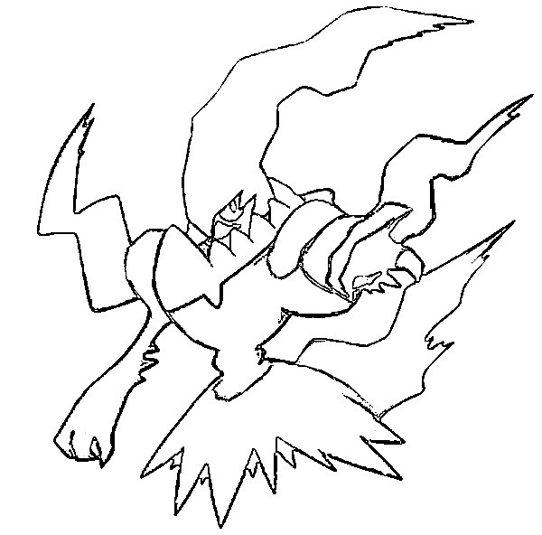 coloriage pokemon Darkrai