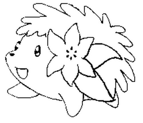 coloriage pokemon Shaymin