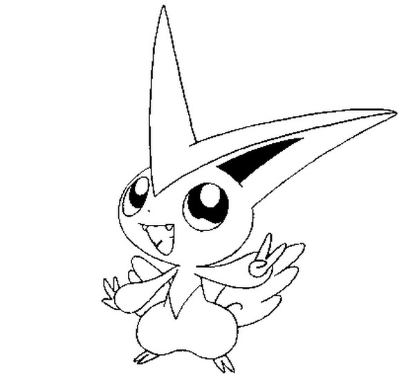 coloriage pokemon Victini