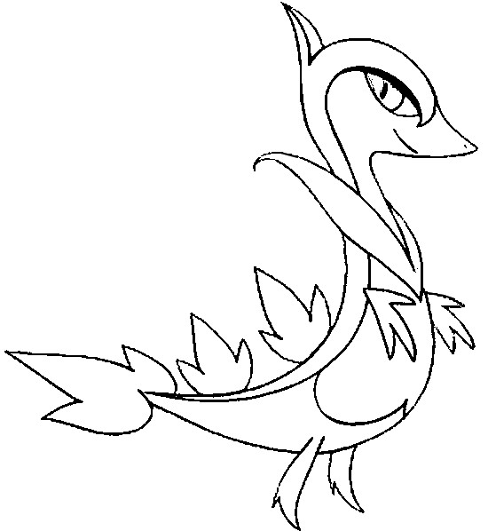 coloriage pokemon Lianaja