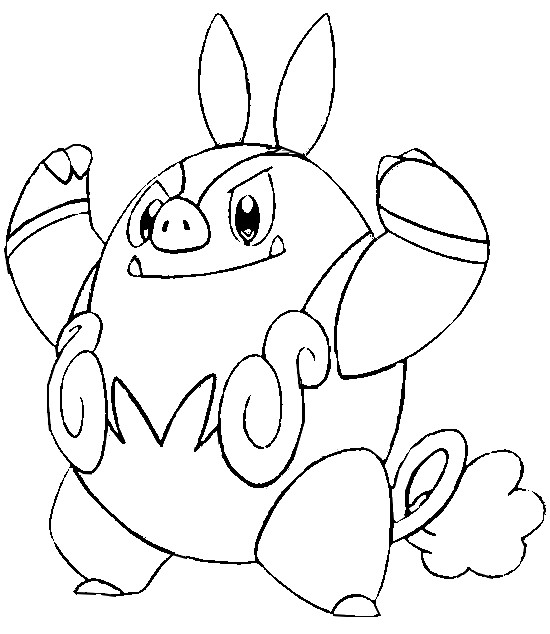 coloriage pokemon Grotichon