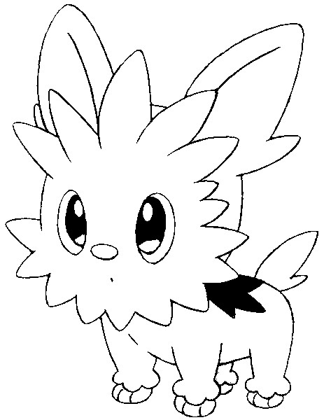 coloriage pokemon Ponchiot