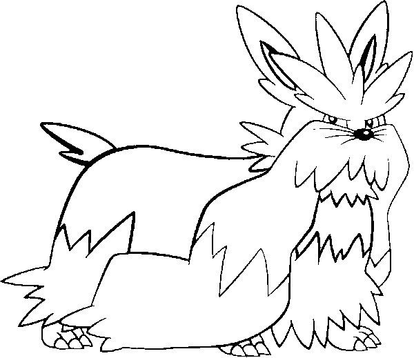 coloriage pokemon Mastouffe