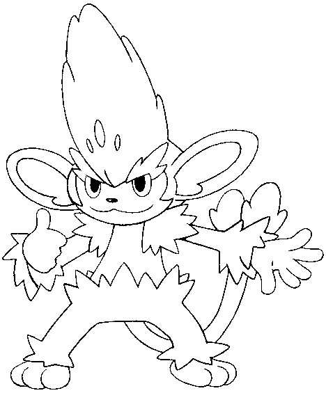 coloriage pokemon Feuiloutan
