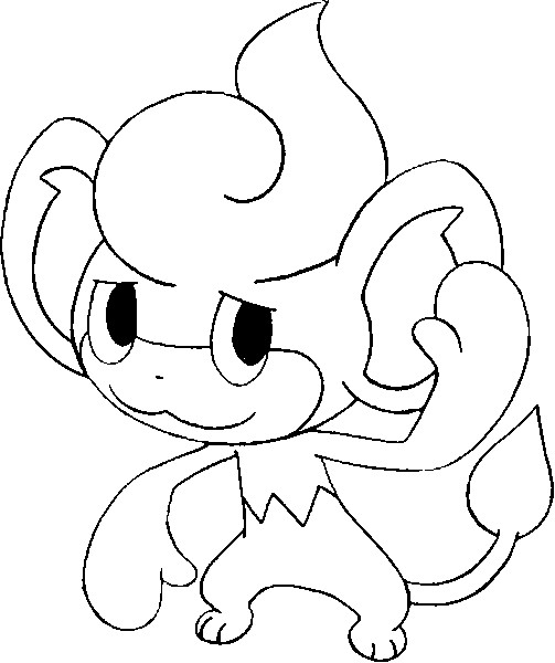 coloriage pokemon Flamajou