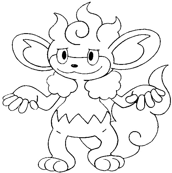 coloriage pokemon Flamoutan