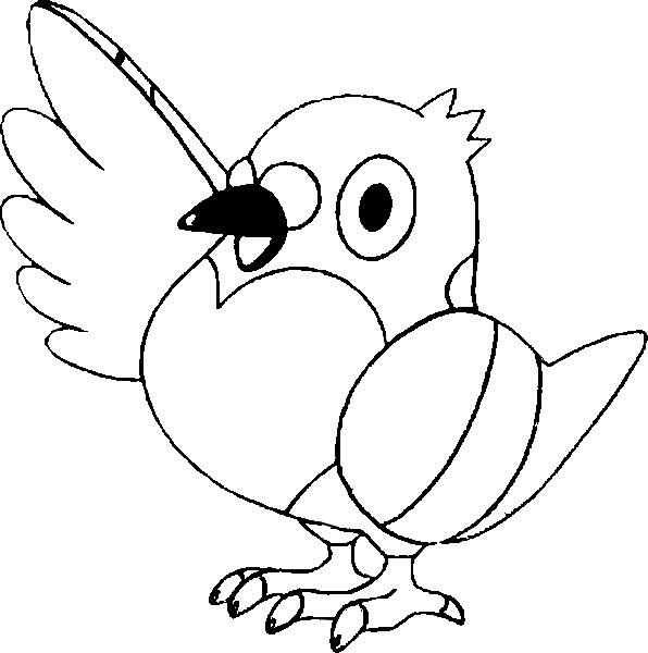 coloriage pokemon Poichigeon