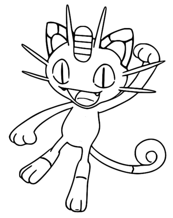 coloriage pokemon Miaouss