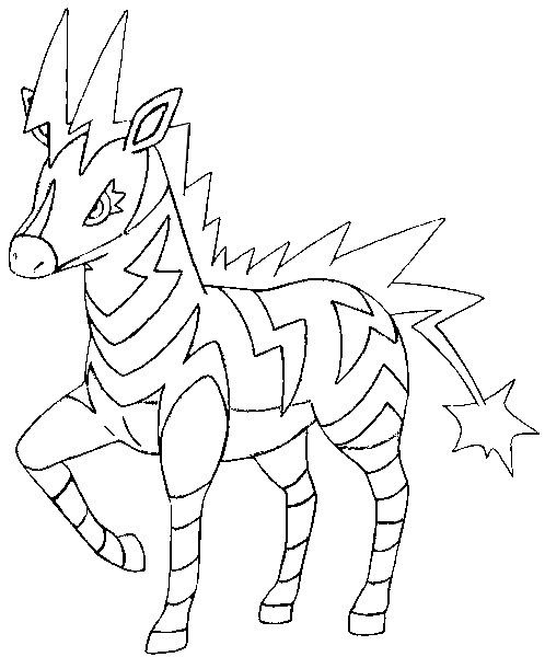 coloriage pokemon Zéblitz