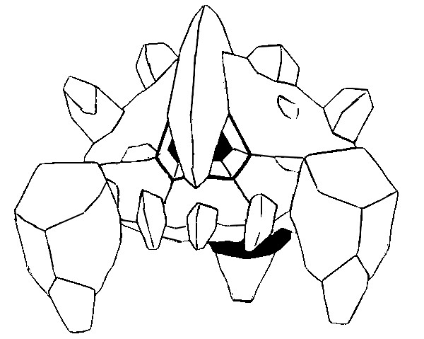 coloriage pokemon Géolithe