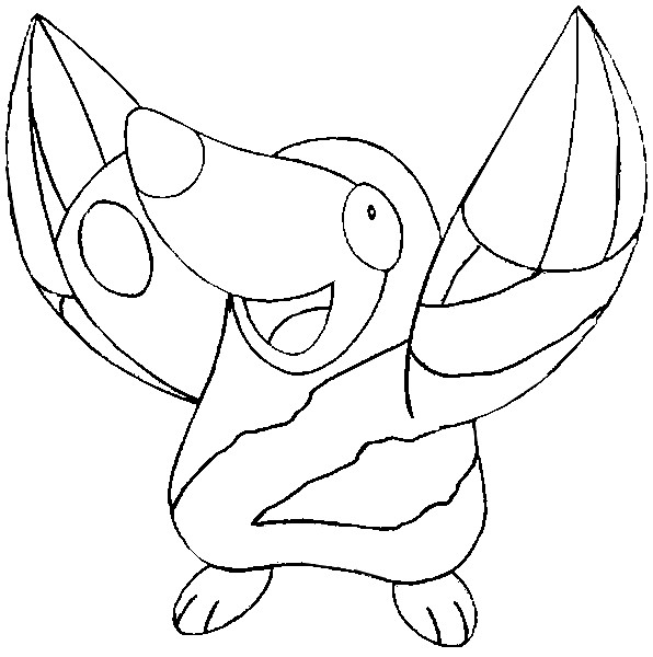 coloriage pokemon Rototaupe