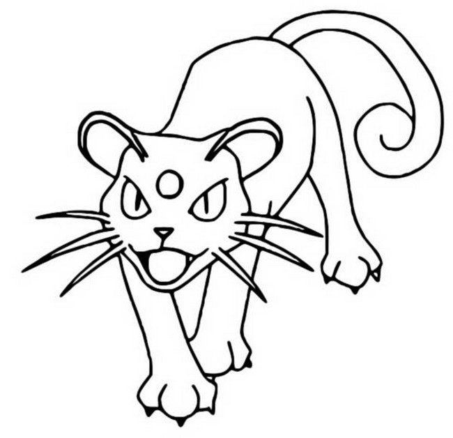 coloriage pokemon Persian