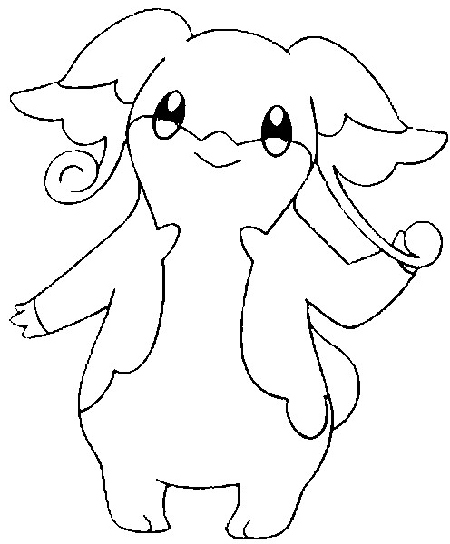 coloriage pokemon Nanméouïe