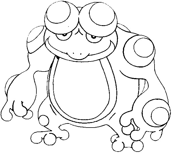 coloriage pokemon Crapustule