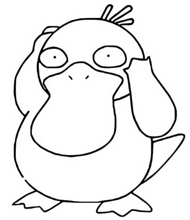 coloriage pokemon Psykokwak