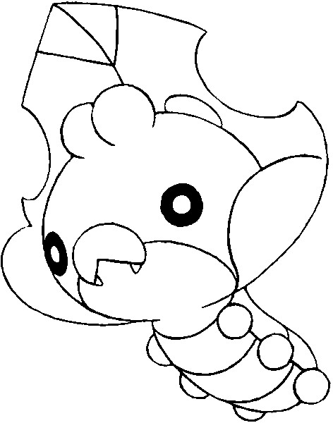 coloriage pokemon Larveyette