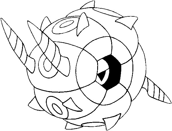 coloriage pokemon Scobolide