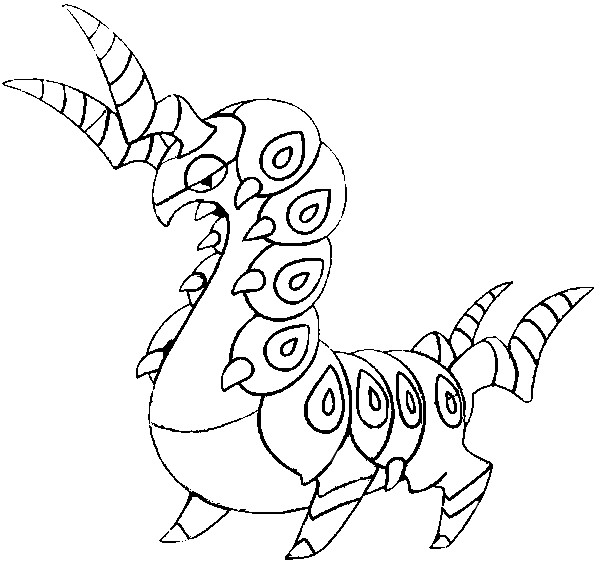 coloriage pokemon Brutapode