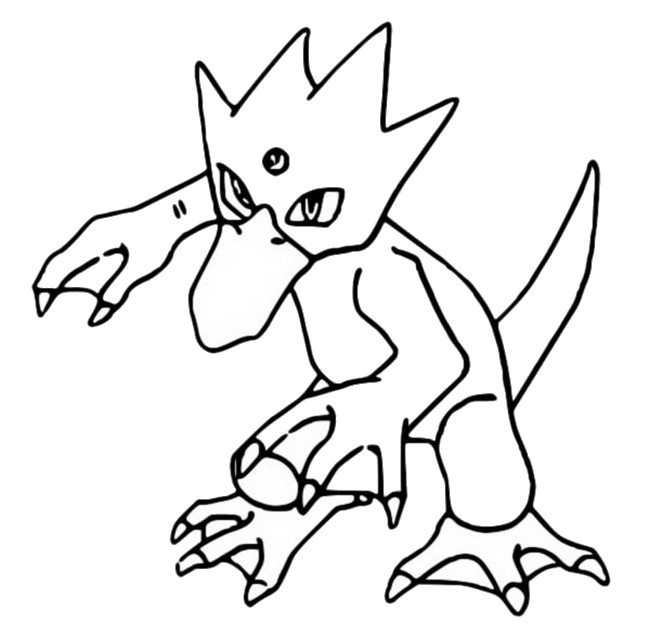 coloriage pokemon Akwakwak