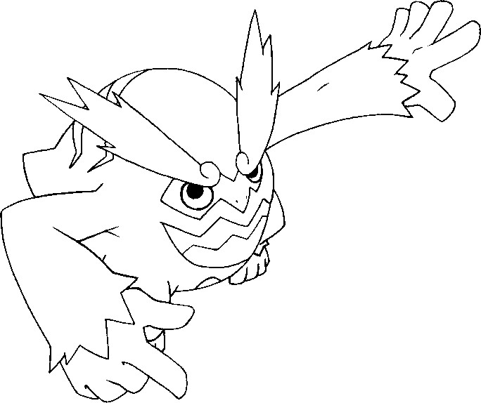 coloriage pokemon Darumacho