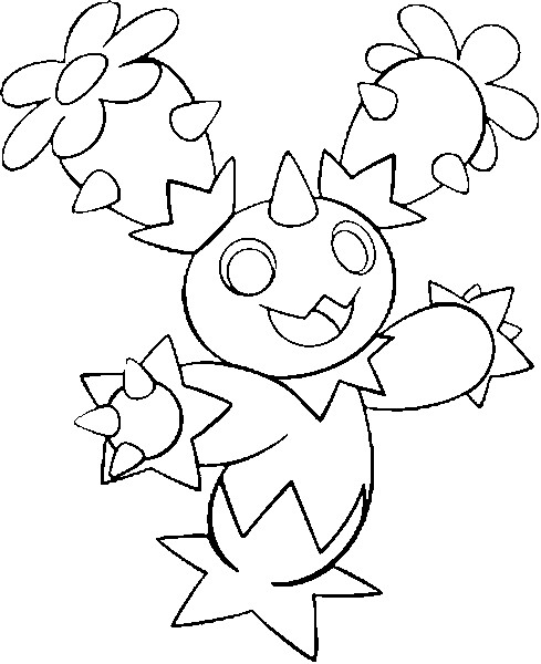 coloriage pokemon Maracachi