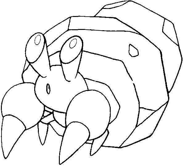 coloriage pokemon Crabicoque