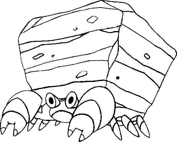 coloriage pokemon Crabaraque