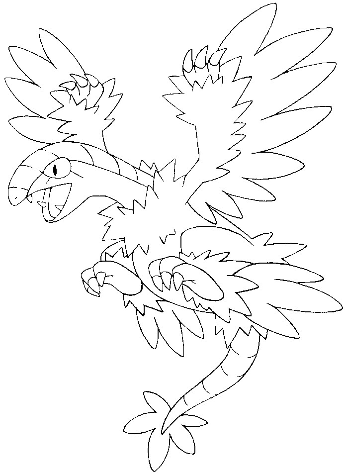 coloriage pokemon Aéroptéryx