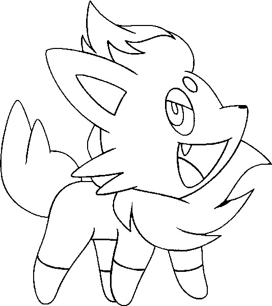 coloriage pokemon Zorua