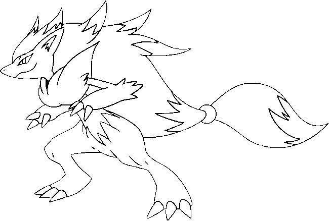 coloriage pokemon Zoroark