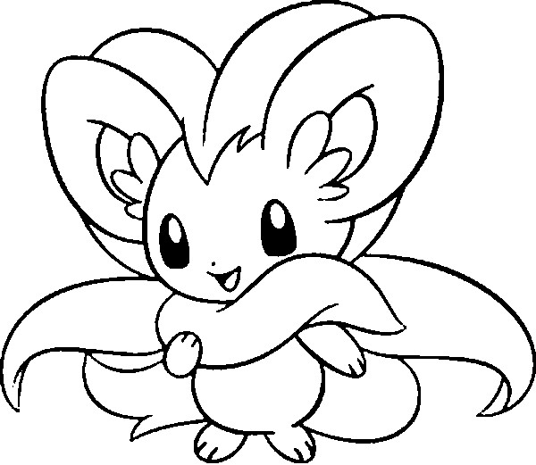 coloriage pokemon Pashmilla