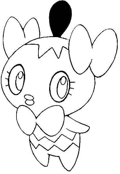 coloriage pokemon Scrutella
