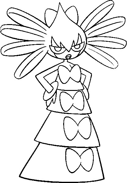 coloriage pokemon Sidérella