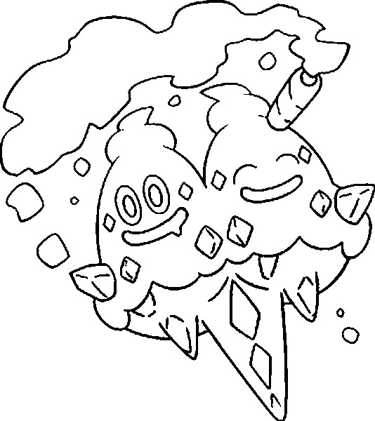 coloriage pokemon Sorbouboul