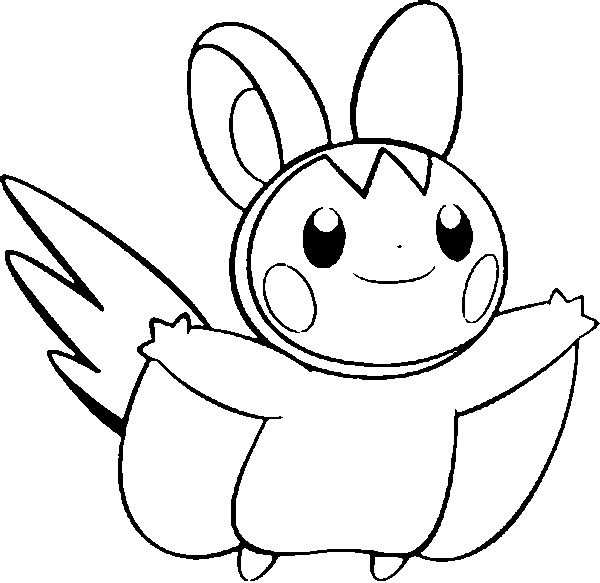 coloriage pokemon Emolga