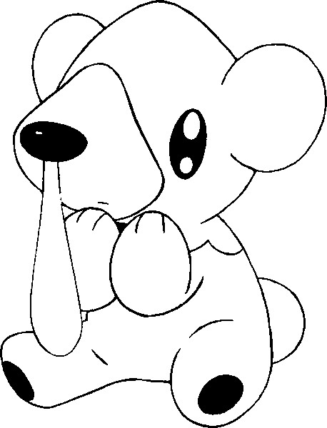 coloriage pokemon Polarhume
