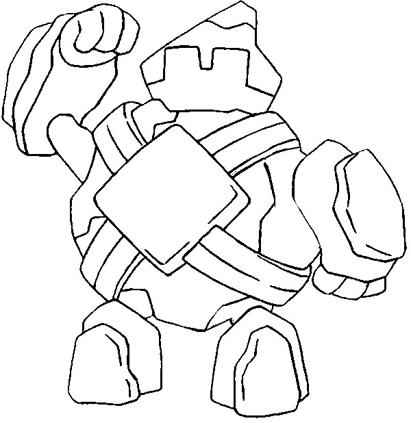 coloriage pokemon Gringolem