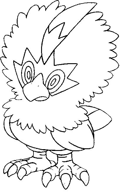 coloriage pokemon Furaiglon