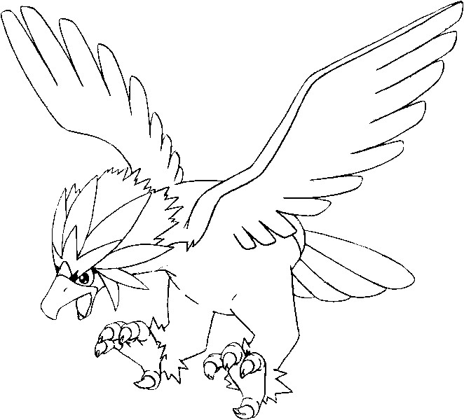 coloriage pokemon Gueriaigle
