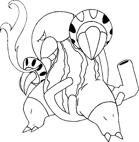 coloriage pokemon Aflamanoir