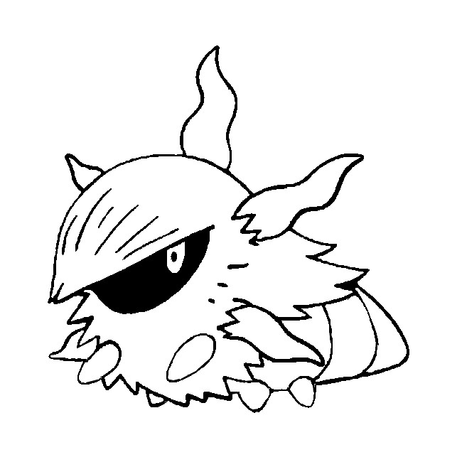 coloriage pokemon Pyronille