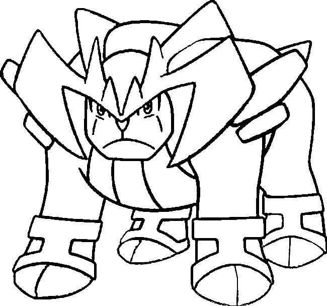 coloriage pokemon Terrakium