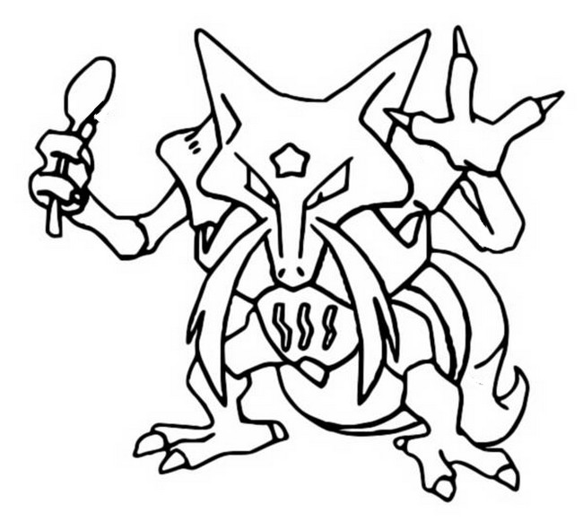 coloriage pokemon Kadabra