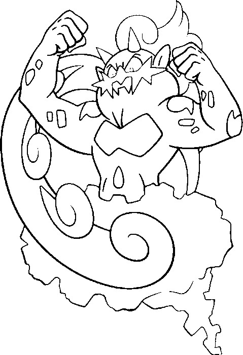 coloriage pokemon Boréas