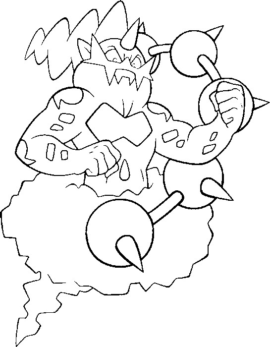 coloriage pokemon Fulguris