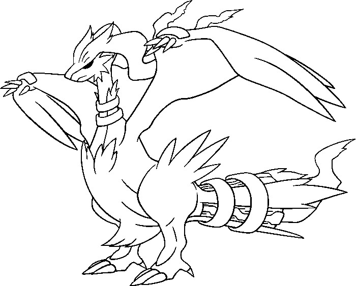 coloriage pokemon Reshiram