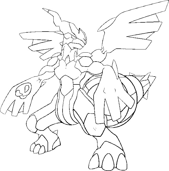 coloriage pokemon Zekrom