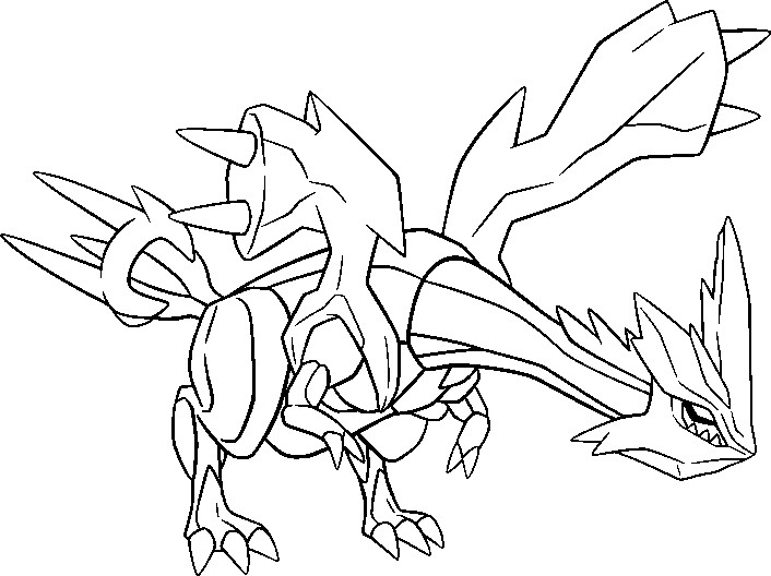 coloriage pokemon Kyurem